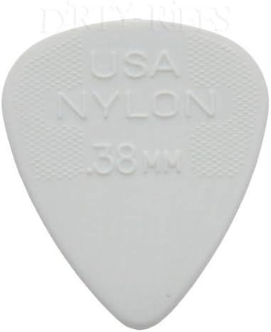 12 púas para guitarra de nailon Jim Dunlop, tamaño estándar de 0 ...