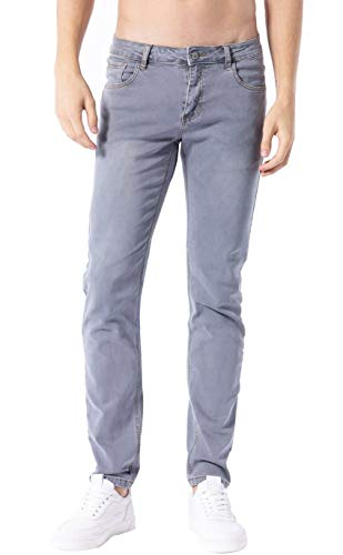 ZLZ Men's Skinny Slim Fit Stretch Comfy Fashion Denim Jeans Pants (Light Blue, 34)
