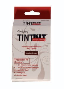 Godefroy Instant Tint Kit Permanent Color Kit, Medium Brown-1 kit