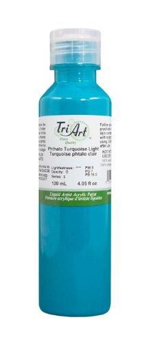 Finest Art - Tri-Art Finest Liquids Artist Acrylics, 120ml, Phthalo/Turquoise
