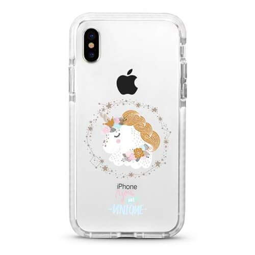 Cute Protective Girl Case for iPhone Xs X Clear with Glass Screen Protector by LFXTECH