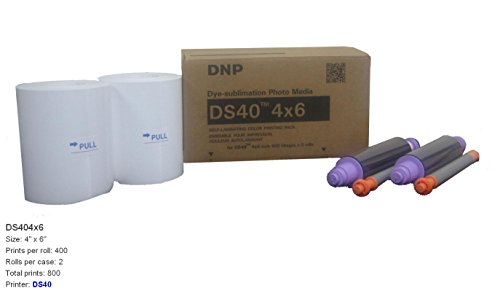 "DNP DS40 4"" x 6"" Dyesub Printer Paper, 800 Glossy Prints"