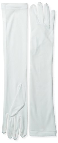 Long White Dress Costume (Jacobson Hat Company Women's Adult Stretch 18 Inch Long Gloves, White, One Size)