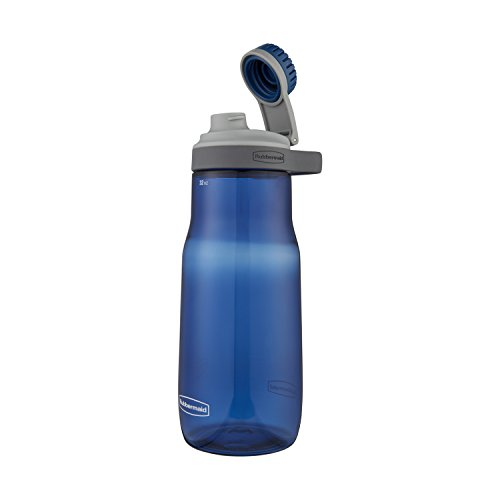 Rubbermaid Leak-Proof Chug Water Bottle, 32 oz., Nautical Bl