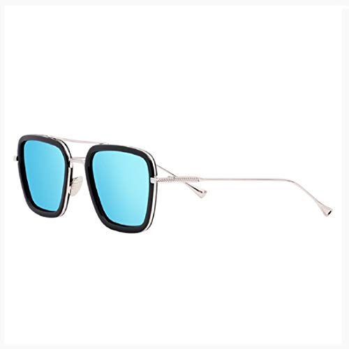 Women Classic Rectangular Polarized Metal Frame Sunglasses Carbon Fiber Classic Polarized Aviator Sunglasses