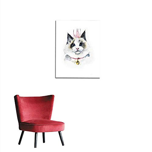 longbuyer Home Decor Wall She is a Queen! Cat rag Doll Portrait Animals Mural 32