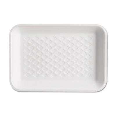 GNPW1002 - Supermarket Tray, Foam, White, 8-1/4x5-3/4x1, 125/bag