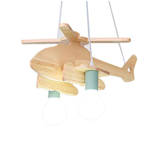 CSDM.AI Aircraft Chandelier, Ceiling Light for Kid's Room Children's Bedroom Cartoon Creative Helicopter lamp E27,Green