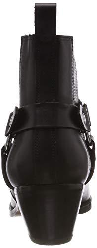 Madden Black Powerful Leather Ankle Boot Black Femme Bottines 017 Steve dwYq7xv1d
