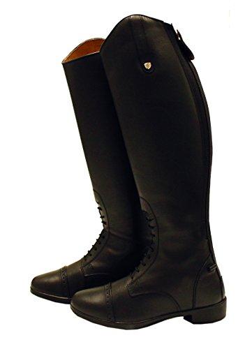 Pour Horseware Adulte 39eu Noir Long Bottes Reg Cuir D'équitation Femme wIwaO