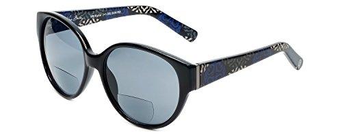 Vera Bradley Bi-Focal Reading Sunglasses Kylie in Canterberry-Cobalt w/ Grey Lens - Sunglasses Prescription Vera Bradley