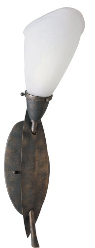 American Fluorescent IRS113ETEC Iris Wall Sconce, Earth Tone Finish ()