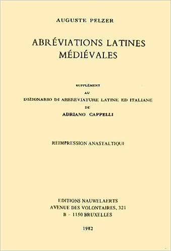 Abréviations latines médiévales cover