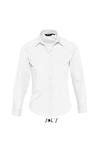 SOL´S - Popeline-Langarmbluse Executive L,White
