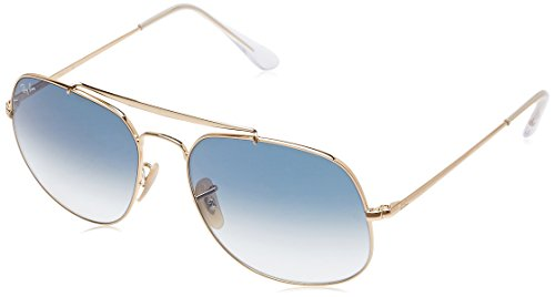 Ray-Ban Men's Steel Man Square Sunglasses, Gold, 57.02 - Aviator Ray Ban Square