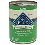 Blue Buffalo Canned Dog Food, Lamb and Brown Rice Dinner (Pack of 12 12.5-Ounce Cans), My Pet Supplies