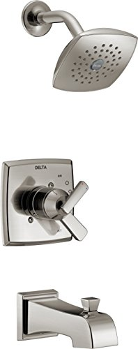 (Delta T17464-SS Ashlyn Monitor 17 Series Tub & Shower Trim, Stainless)