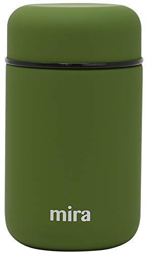 MIRA Lunch, Food Jar, Vacuum Insulated Stainless Steel Lunch Thermos, 13.5 Oz (Olive Green)