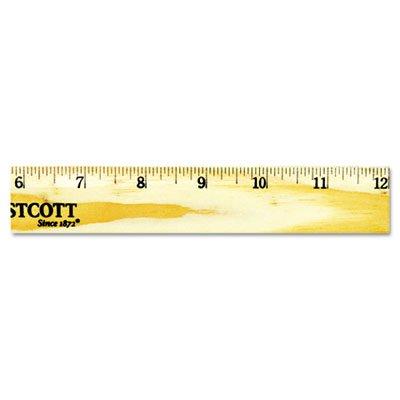 Wood Ruler with Single Metal Edge, 12'', Total 240 EA