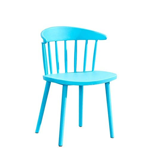 CHU N Nordic Taburete, Cena la Silla con Respaldo Simple del Escritorio del hogar Silla Neto Rojo heces (Size : Blue)
