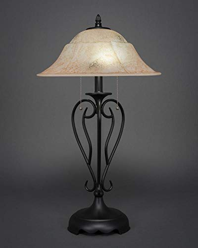 (Table Lamp with 16 in. Italian Marble Glass Shade)