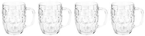 Libbey Dimple Stein Beer Mug,19.25 Ounce (Pack of 4)