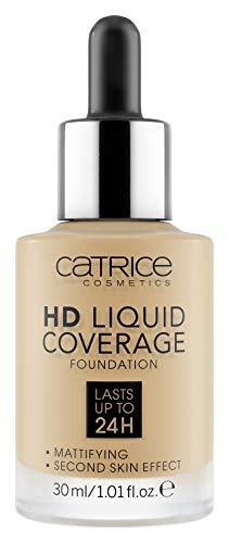 Catrice | HD Liquid Coverage Foundation | High & Natural Coverage | Vegan & Cruelty Free (035 | Natural Beige)