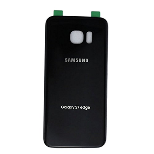 OEM Original Back Glass Cover Battery Door Replacement For Samsung Galaxy S7 edge G935 (Black)
