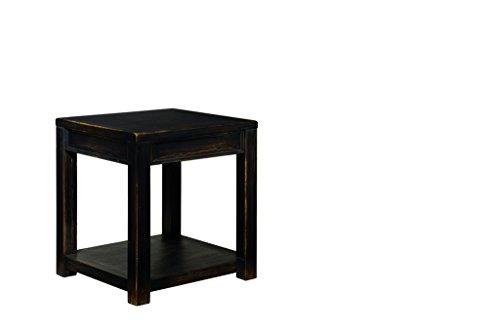 Ashley Furniture Signature Design Gavelston Square End Table  Rubbed Black Finish