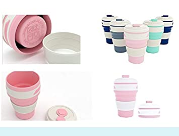 Reusable Mug with for Camping Hiking Outdoor Lightweight /& Portable Cups Shenzen Tongchuang Travel Collapsible Silicone Cup BPA Free