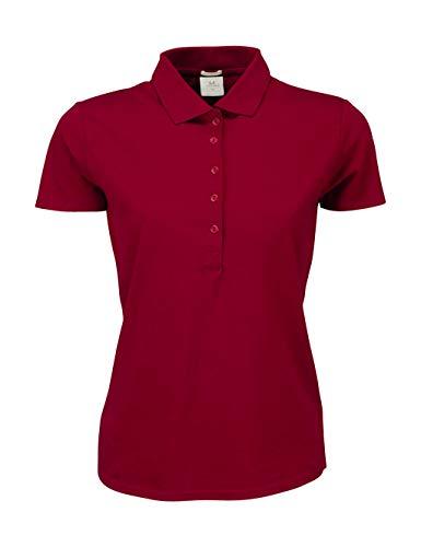 Stretch Luxury Polo Deep Red Tee Ladies Jays qtn7tCz