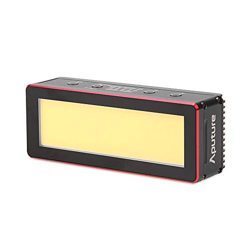 (Aputure AL-MW LED Video Light Waterproof 5600K Daylight Mini Continuous Light IP68 with 5 Cinamatic Lighting Effects CRI 95+ for Underwater Lighting with Andoer Cleaning Cloth )