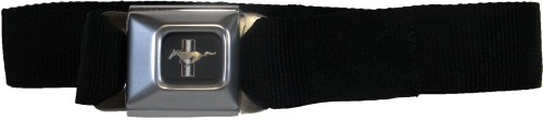 [Buckle-Down Ford Mustang Seat-Belt Style Fashion Belt (SBB-FMW10200)] (Buckle Down Belt Buckles)