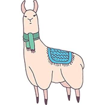 Amazon Com Simple Cute Llama Alpaca Cartoon Drawing Vinyl Decal