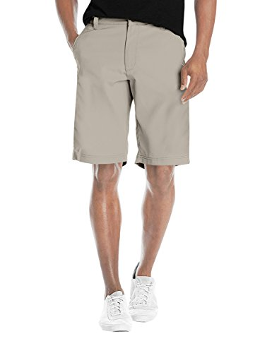 Agile Mens Super Comfy Flex Waist Cargo Shorts ASH45176 Stone 34