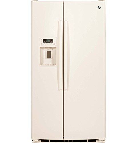 Refrigerator Side By Side Bisque (GE GSE25GGHCC 25.4 Cu. Ft. Bisque Side-By-Side Refrigerator - Energy Star)