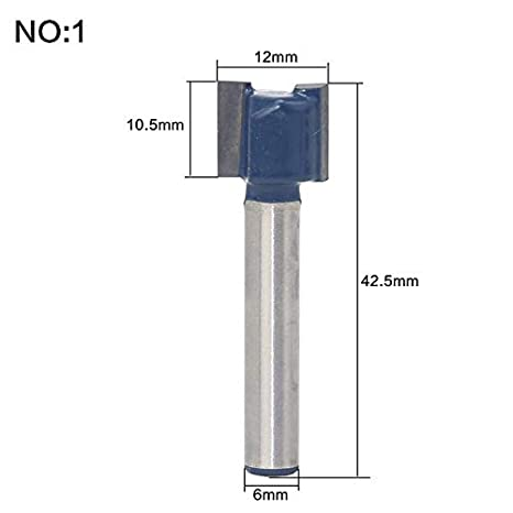 """1pc Carbide 1//4/""""*1//4/"""" Straight Flush Trim Router Bit Mill Cutter For Woodworking"""