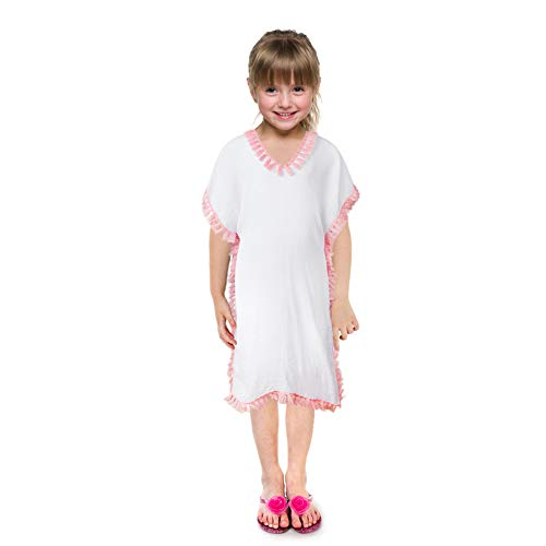 Beinou Cover Ups for Kids Tassel Dress Cover Ups White Swim Cover Ups