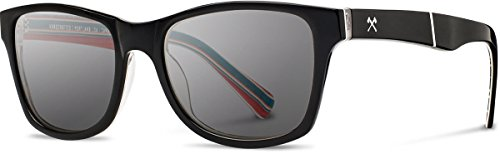 Shwood - Canby Acetate, Collaboration with Pendleton Woolen Mills, Black/Turquoise Sarape, Grey Polarized - Canby Shwood
