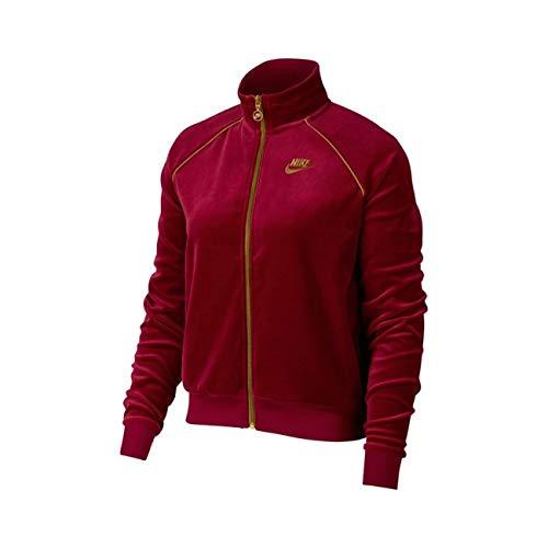 Nike Sportswear Velour Track Jacket (Red/Gold, M)