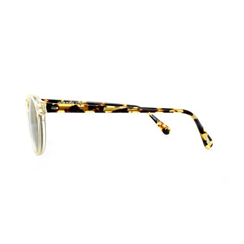 Oliver Peoples 5217 1485W4 Buff - Écaille Foncée Gregory Peck Sun Round Sunglasses Lens Category 2 Lens Mirrored