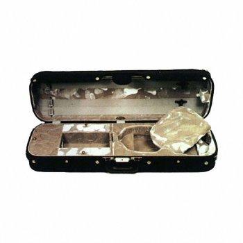 Bobelock Hill Style 1017 Semi-French Fitted Black/Blue 4/4 Violin Case (Bobelock Fiberglass Violin Case)
