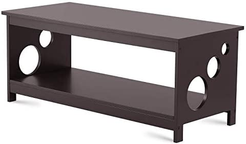 TAOHFE Coffee Table for Living Room – Modern Dark Brown Rectangle Cocktail Furniture – Easy Assembly Centerpiece, Anti-Scratch Wood Surface – Side, End, Center Tables for Home, Apartment, Studio Dorm