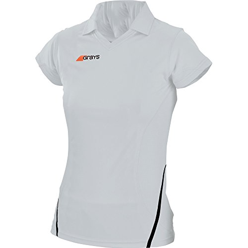 Grays Ladies G750 Collar V Hockey Shirt White