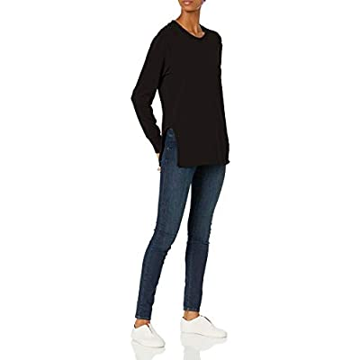 Brand - Daily Ritual Women's Terry Cotton and Modal Pullover with Side Cutouts: Clothing