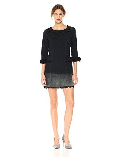 Desigual 4 Sleeve Woman Women's Dress 3 Black Agnes Denim Denim gqwgvxHS
