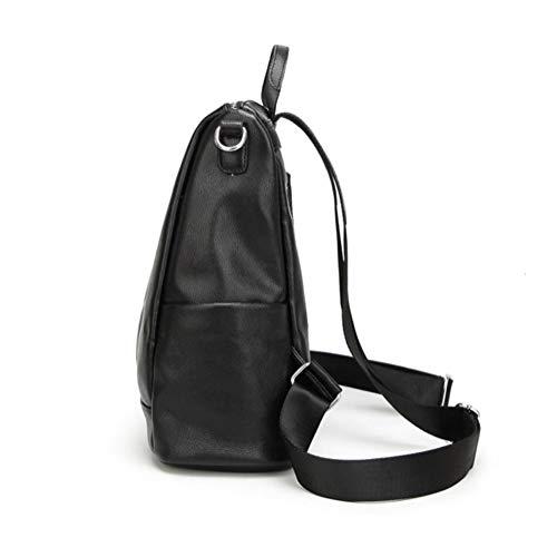 JeHouze Shoulder Backpack Leather Casual Fashion Handbag Genuine Women Bag rnxr1Zq