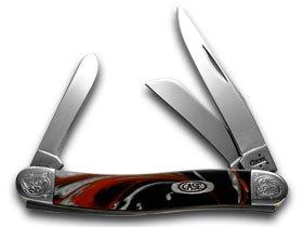 CASE XX Engraved Bolster Series Genuine Man Black Corleon Stockman Pocket Knife (Large Pocket Knife Stockman)
