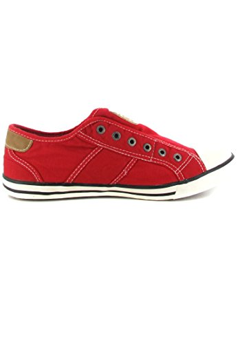 Femme Sneakers Basses Mustang Rouge 401 1099 xzqwv1a
