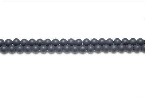 Charming Beads Filo 44+ Nero Onice 8mm Tondo Satinato Perline - (GS5624-3) Something Crafty Ltd